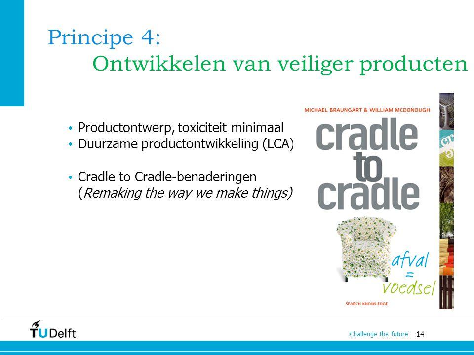 Principe 4: Ontwikkelen van veiliger producten
