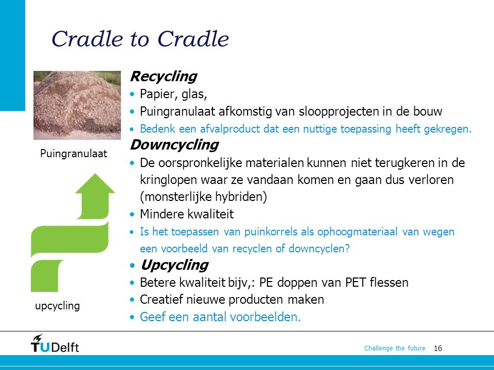 Cradle to Cradle Recycling Downcycling Upcycling Papier, glas,
