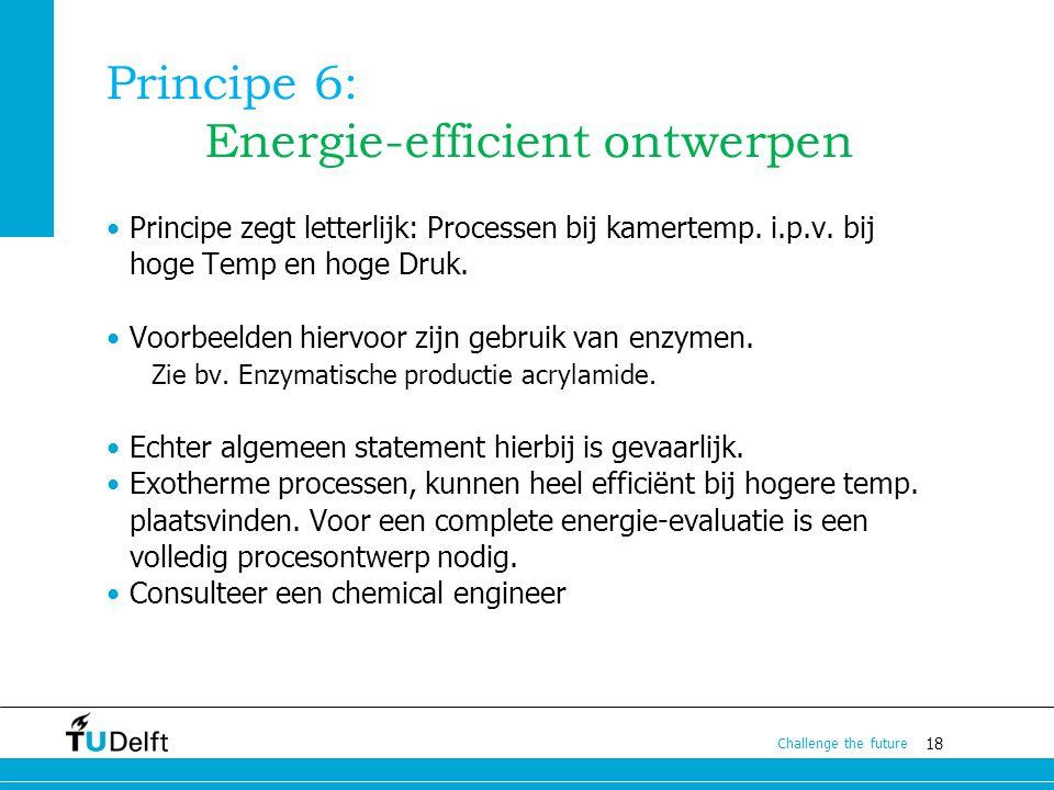 Principe 6: Energie-efficient ontwerpen
