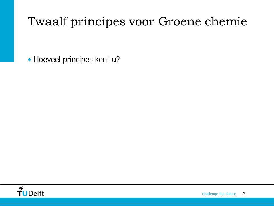 Twaalf principes voor Groene chemie