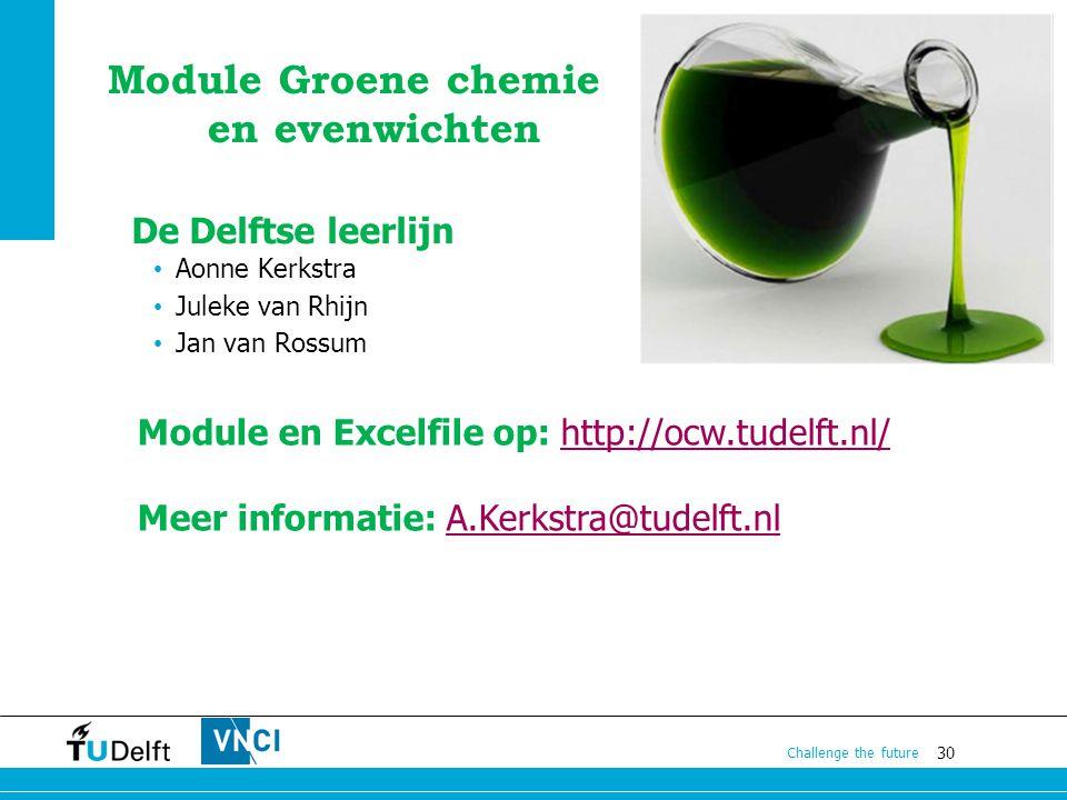 Module Groene chemie en evenwichten