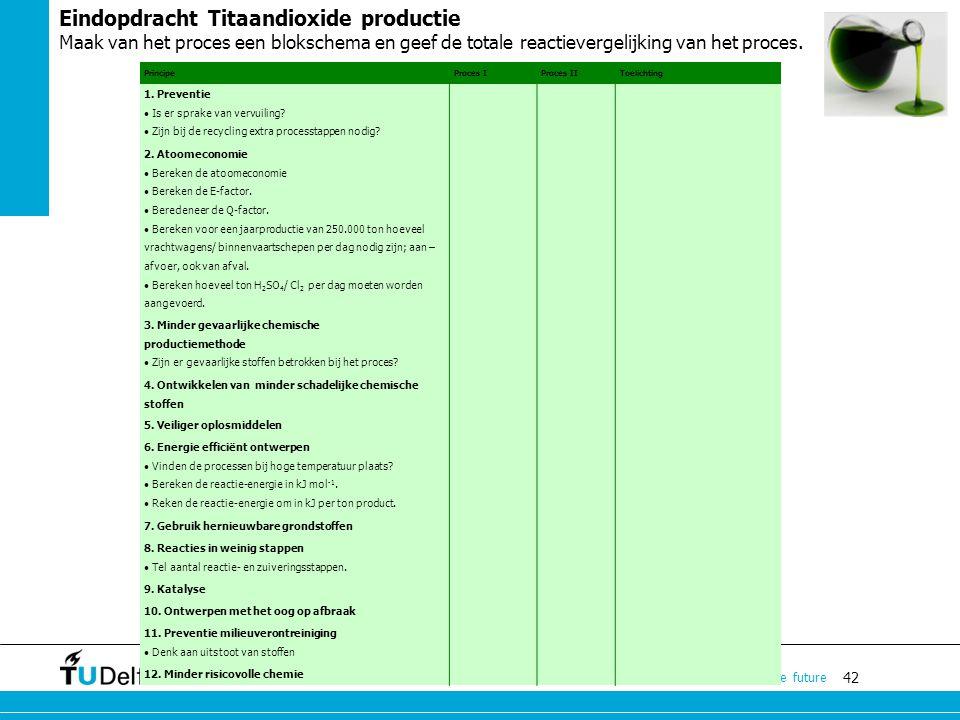 Eindopdracht Titaandioxide productie