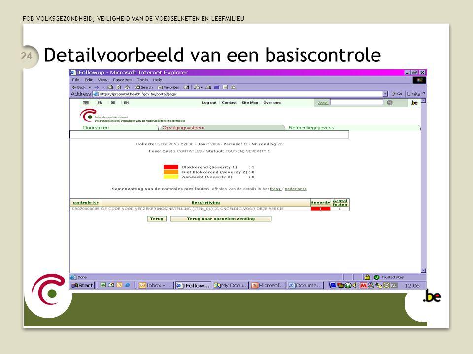 Detailvoorbeeld van een basiscontrole