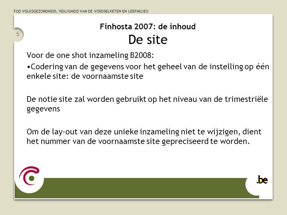 Finhosta 2007: de inhoud De site
