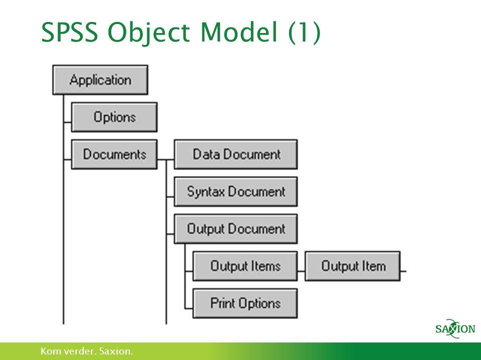 SPSS Object Model (1)