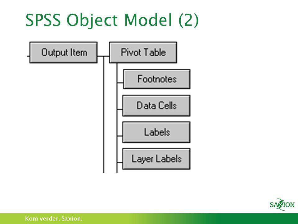 SPSS Object Model (2)