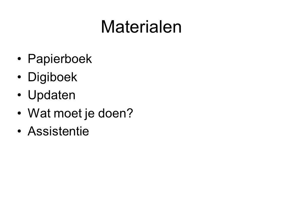Materialen Papierboek Digiboek Updaten Wat moet je doen Assistentie