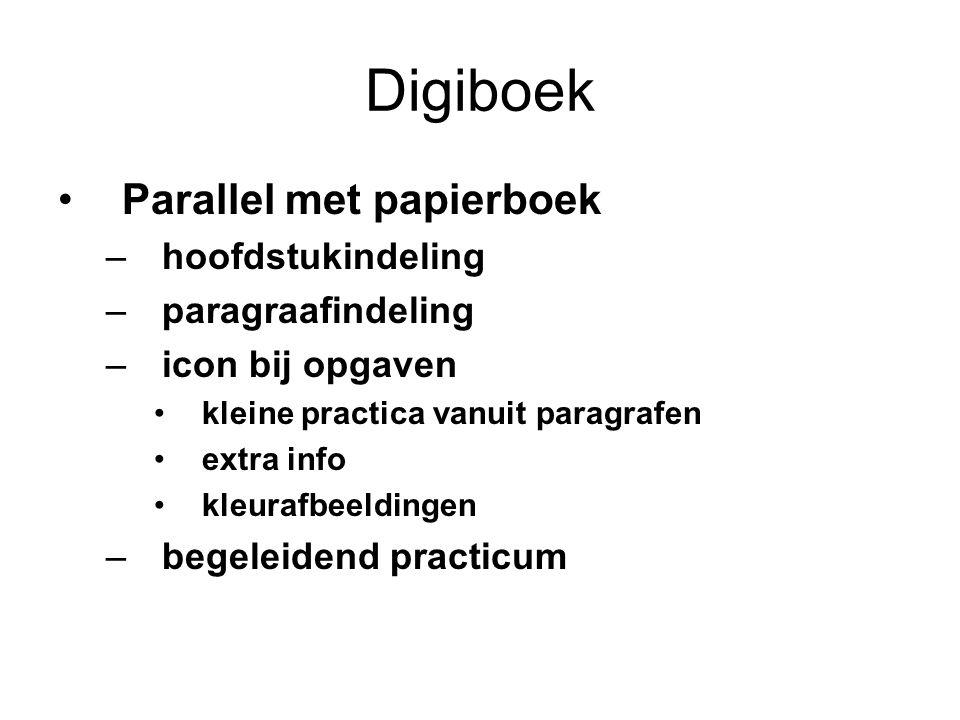 Digiboek Parallel met papierboek hoofdstukindeling paragraafindeling
