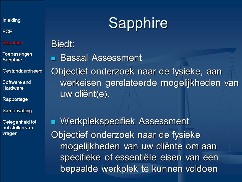 Sapphire Biedt: Basaal Assessment