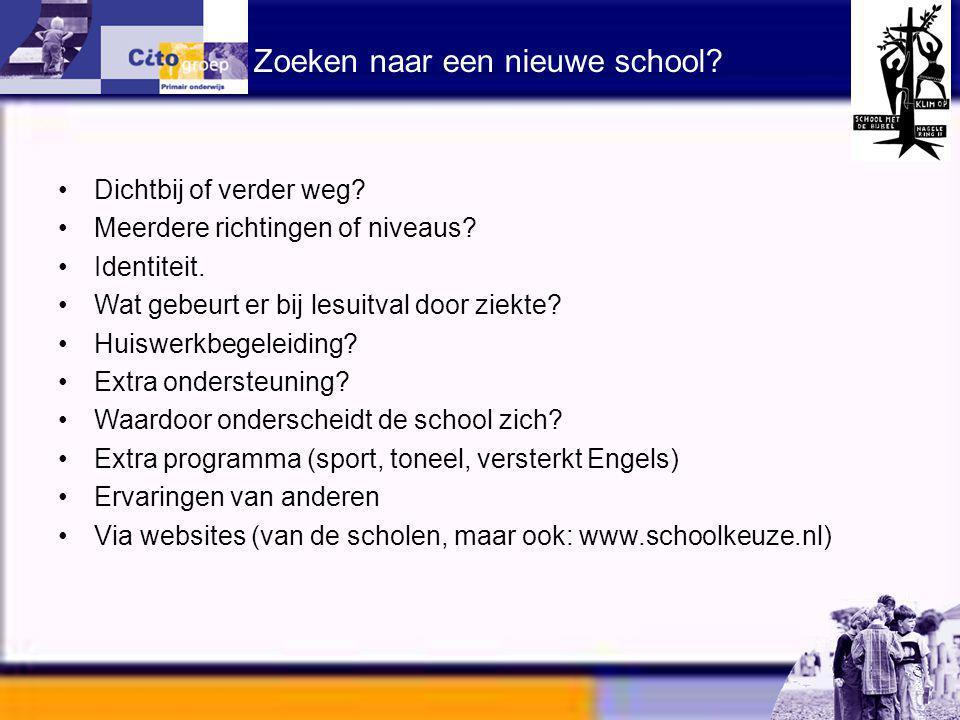 Zoeken naar een nieuwe school