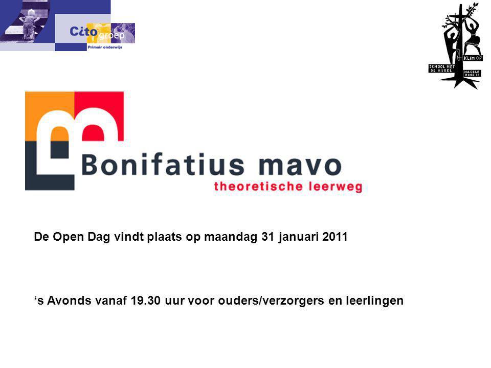 De Open Dag vindt plaats op maandag 31 januari 2011