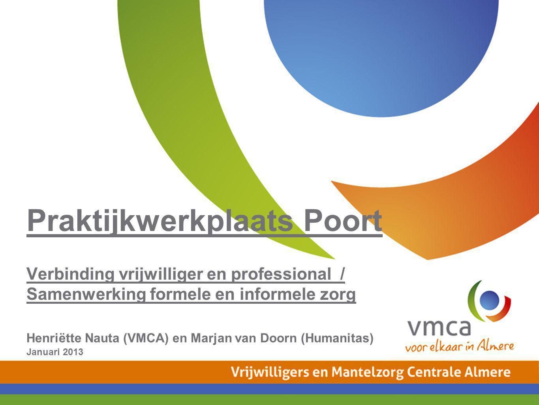 Praktijkwerkplaats Poort Verbinding vrijwilliger en professional / Samenwerking formele en informele zorg
