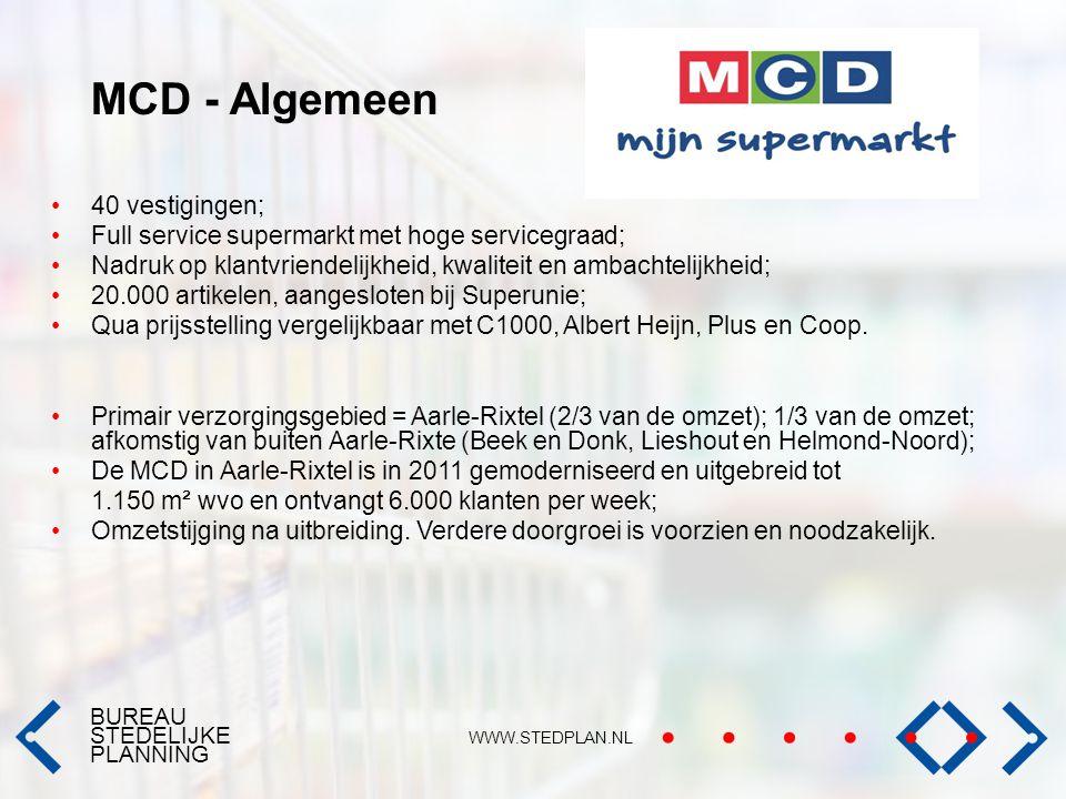 MCD - Algemeen 40 vestigingen;