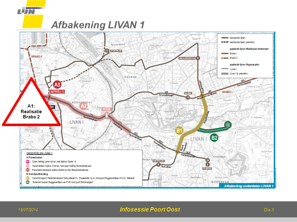 Afbakening LIVAN 1 Infosessie Poort Oost Afbakening Livan 1: