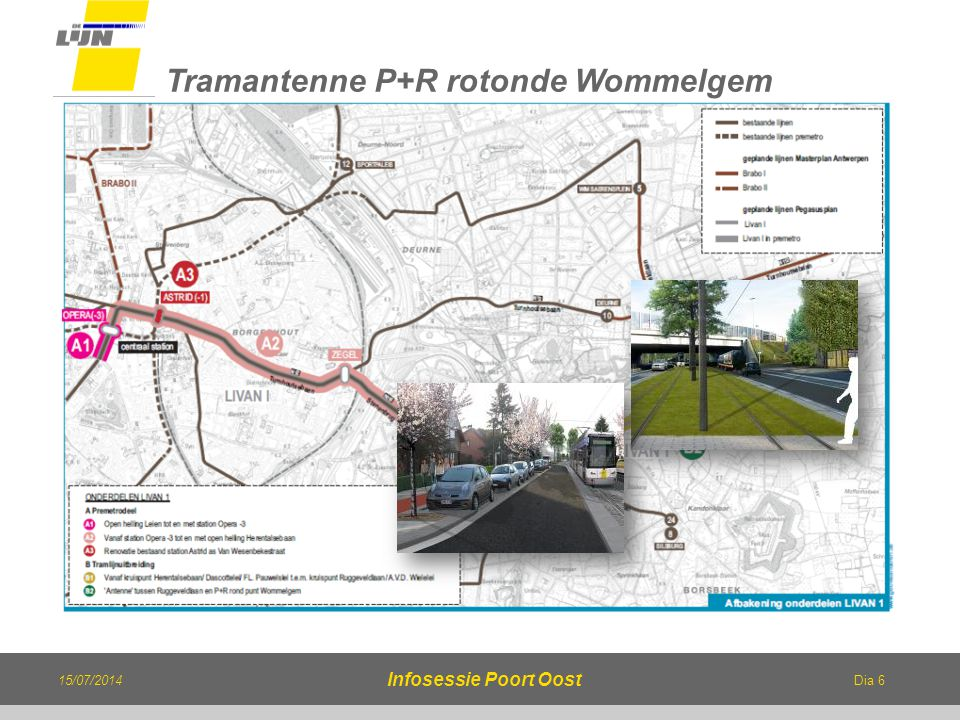 Tramantenne P+R rotonde Wommelgem