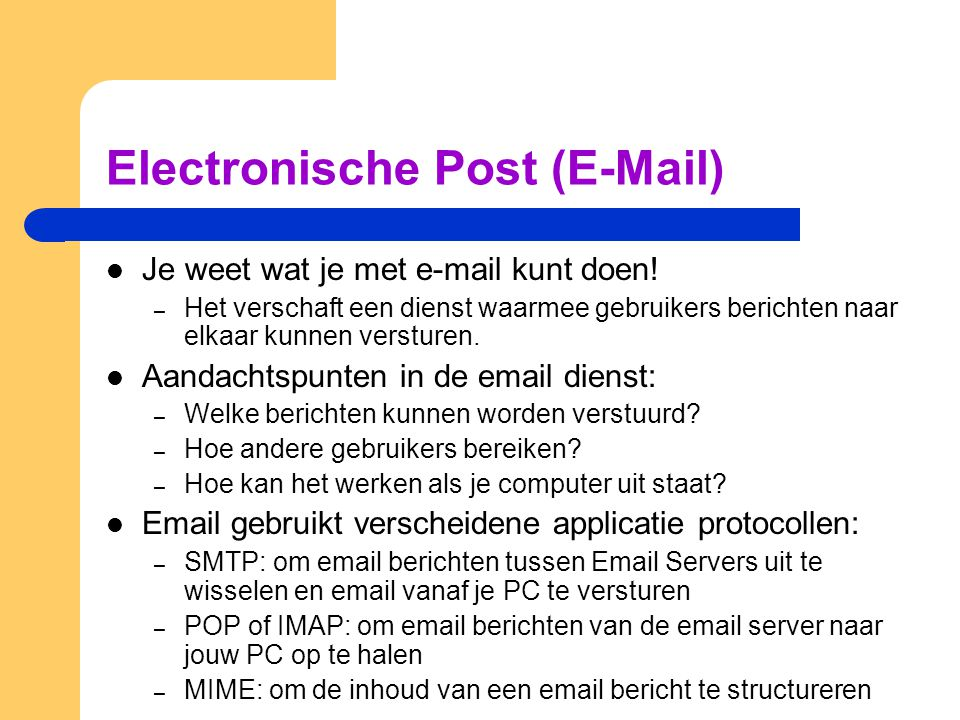 Electronische Post (E-Mail)