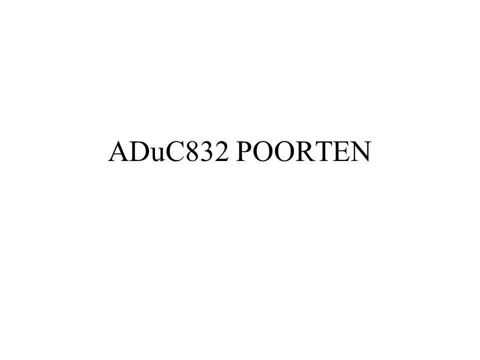 ADuC832 POORTEN