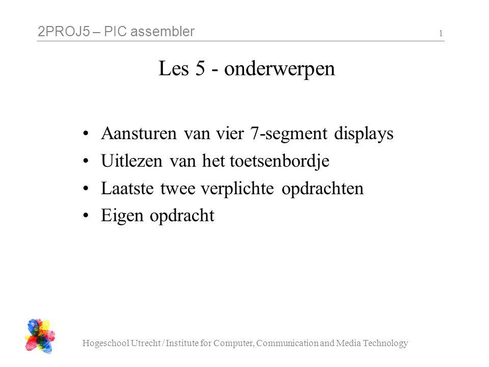 Les 5 - onderwerpen Aansturen van vier 7-segment displays