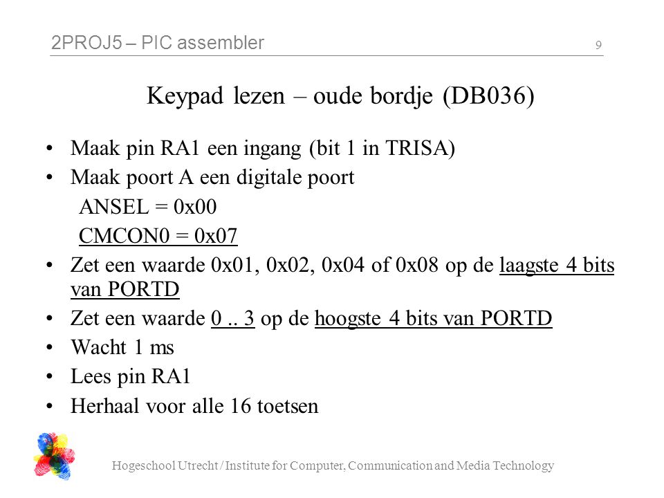 Keypad lezen – oude bordje (DB036)