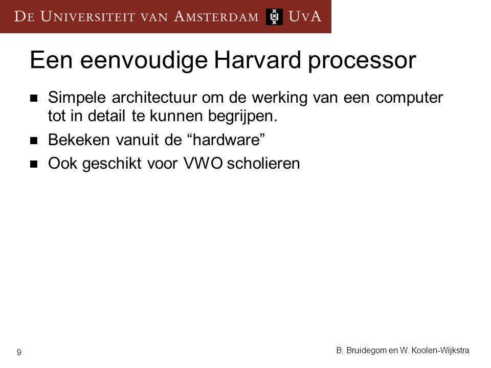 Een eenvoudige Harvard processor