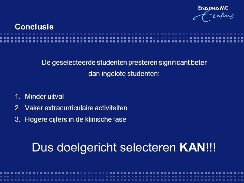 Dus doelgericht selecteren KAN!!!