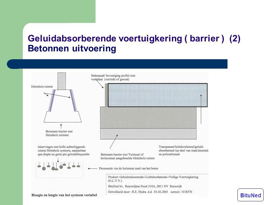 Geluidabsorberende voertuigkering ( barrier ) (2) Betonnen uitvoering