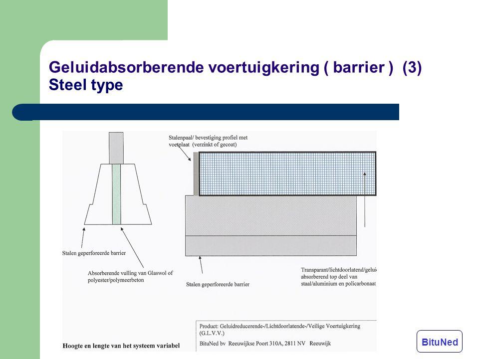 Geluidabsorberende voertuigkering ( barrier ) (3) Steel type