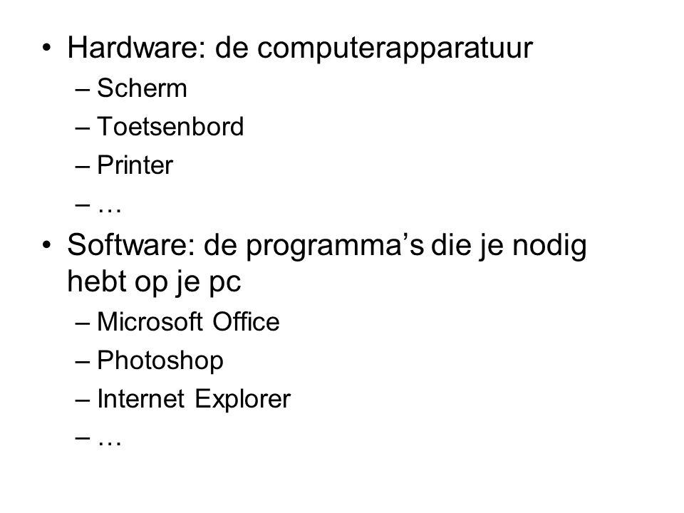 Hardware: de computerapparatuur