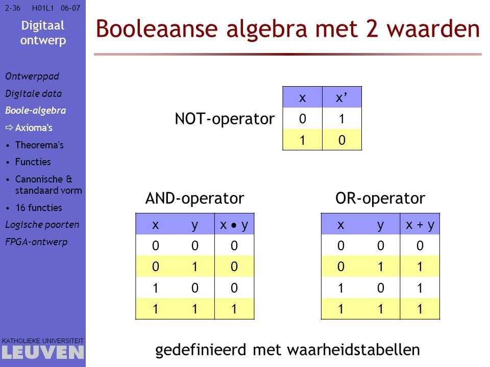 Booleaanse algebra met 2 waarden