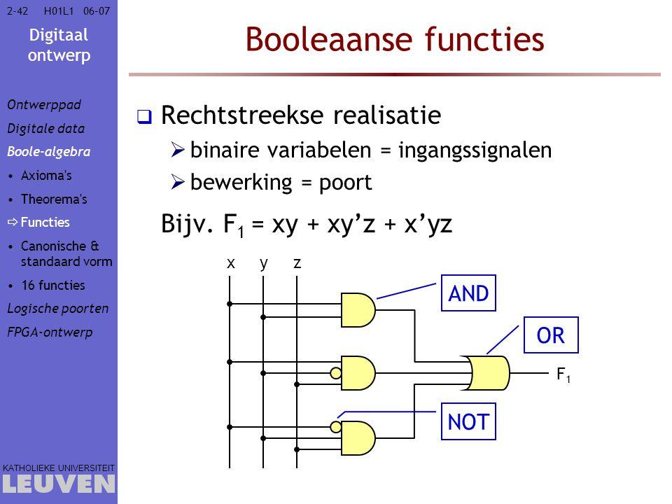 Booleaanse functies Rechtstreekse realisatie