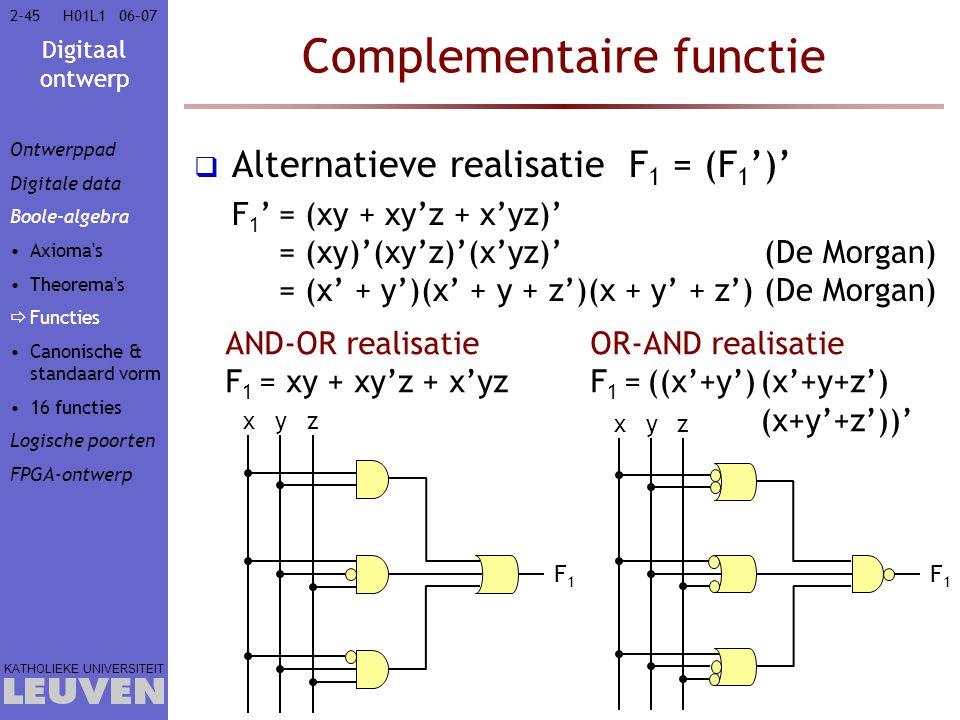 Complementaire functie