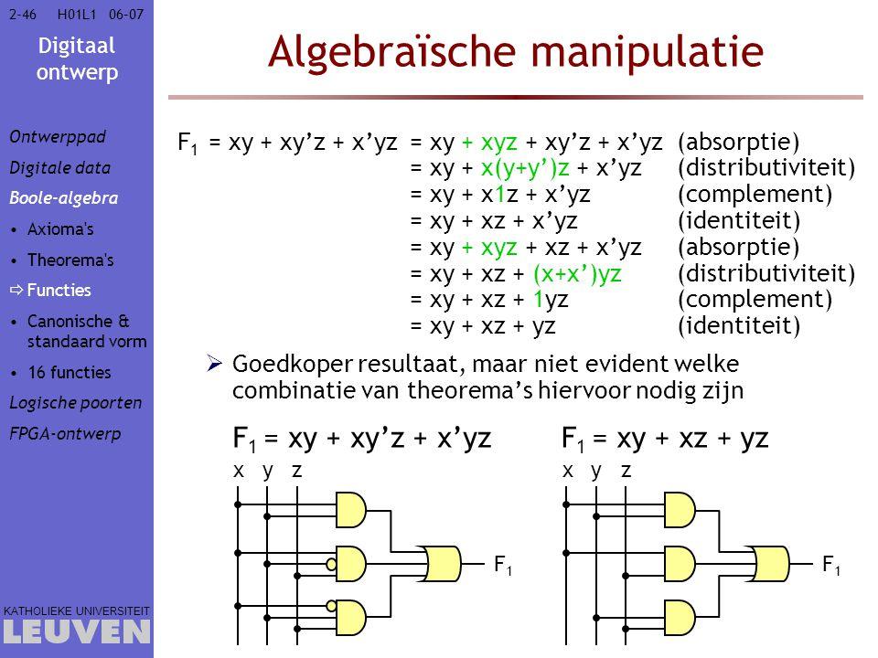 Algebraïsche manipulatie