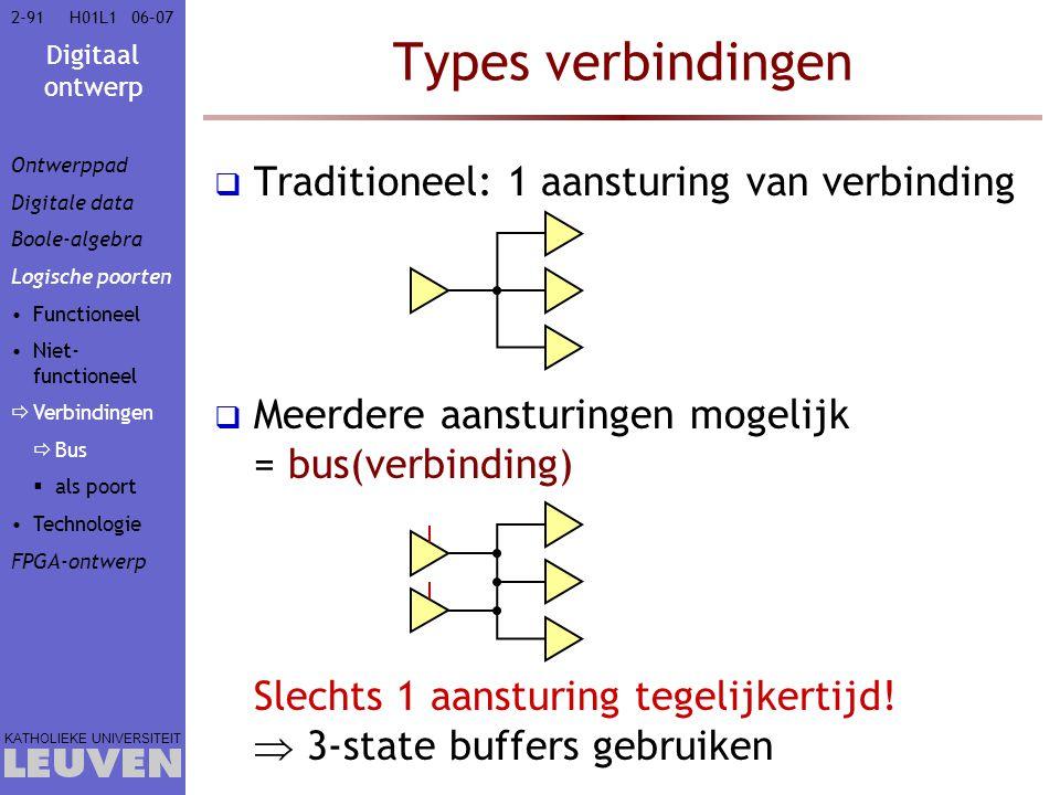 Types verbindingen Traditioneel: 1 aansturing van verbinding