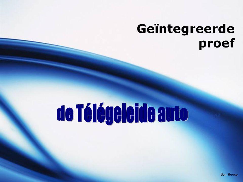 Geïntegreerde proef de Télégeleide auto Ben Roose