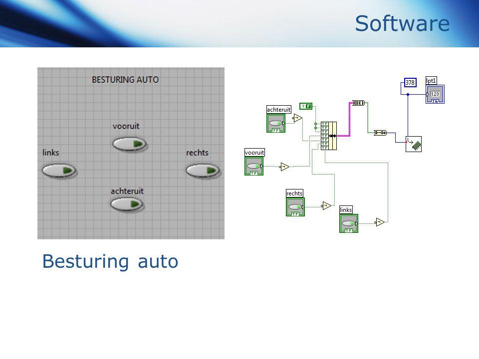 Software Besturing auto