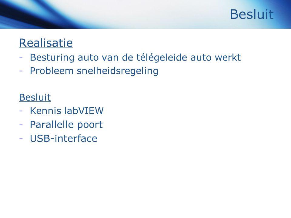 Besluit Realisatie Parallelle poort USB-interface