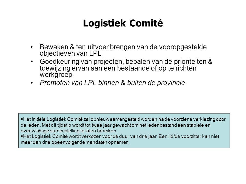 Logistiek Comité Bewaken & ten uitvoer brengen van de vooropgestelde objectieven van LPL.