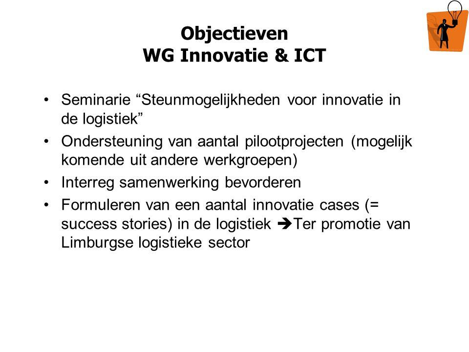 Objectieven WG Innovatie & ICT