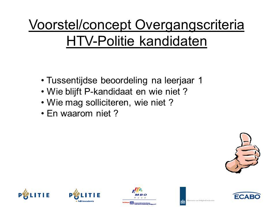 Voorstel/concept Overgangscriteria HTV-Politie kandidaten