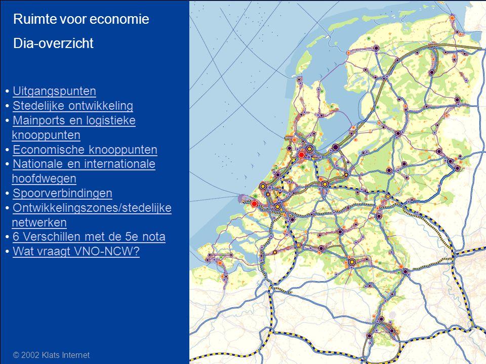 Ruimte voor economie Dia-overzicht Uitgangspunten