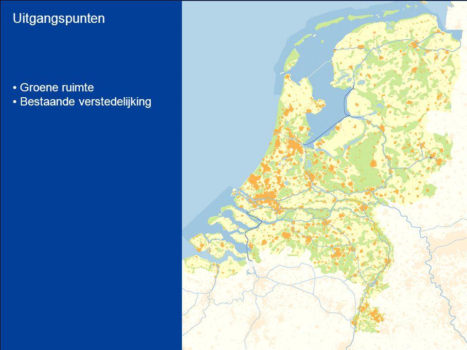Uitgangspunten Groene ruimte Bestaande verstedelijking
