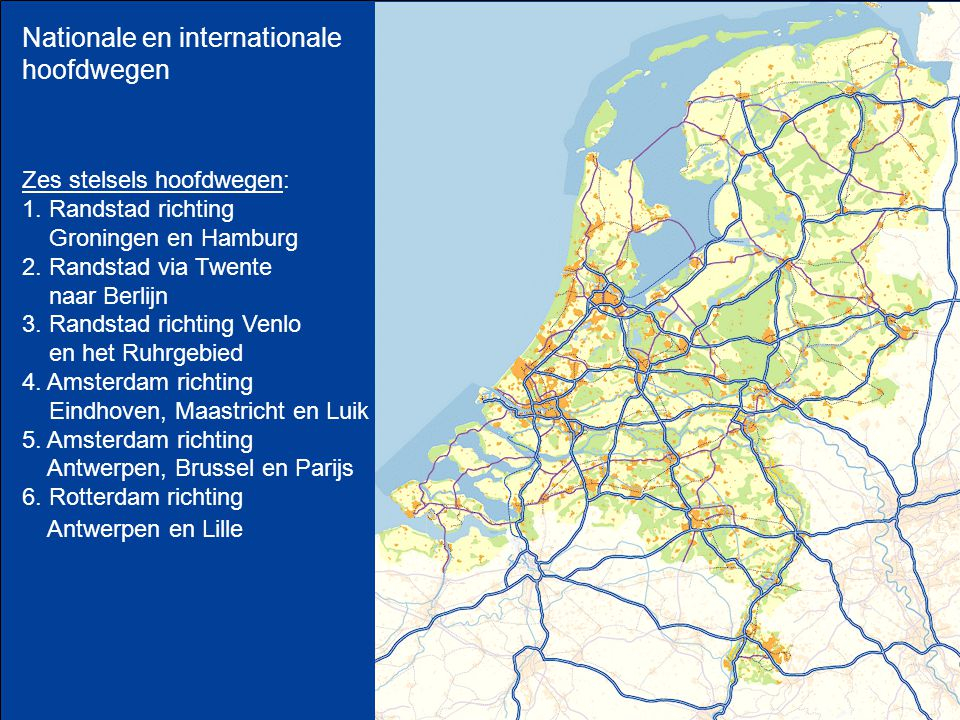 Nationale en internationale hoofdwegen