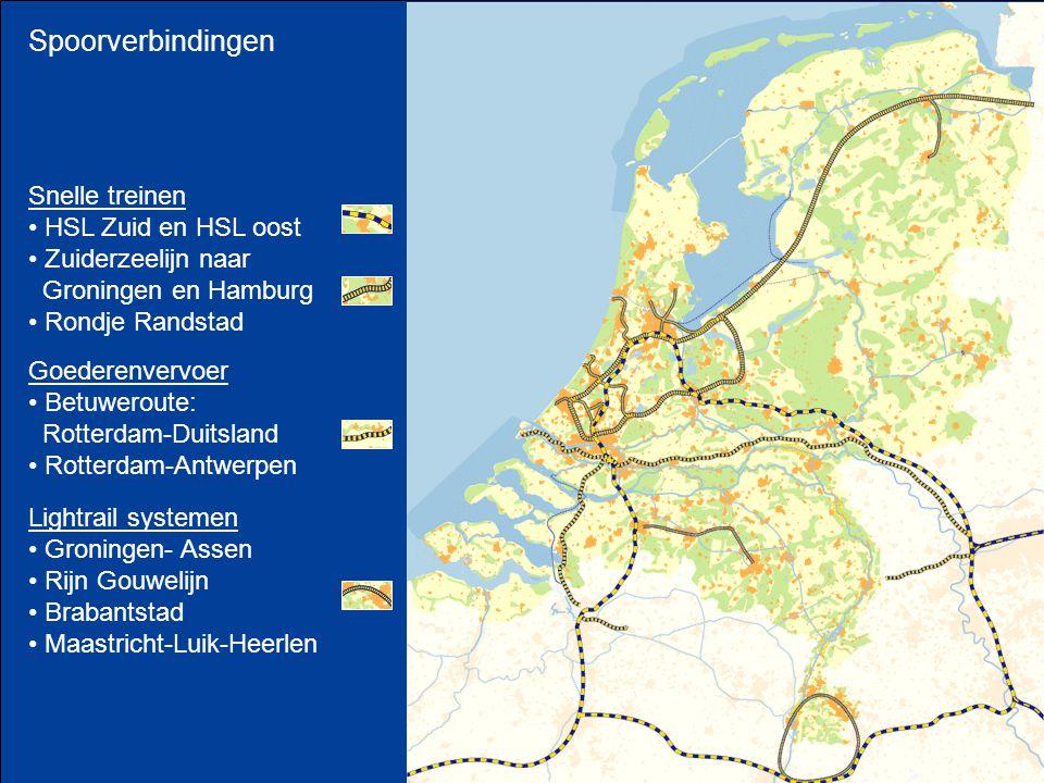 Spoorverbindingen Snelle treinen HSL Zuid en HSL oost