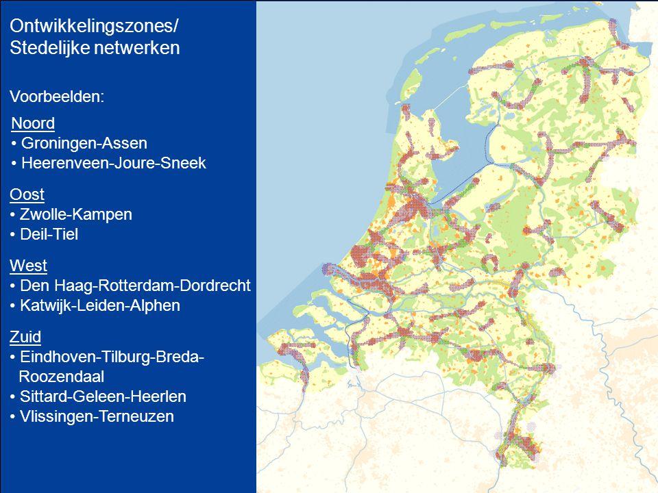 Ontwikkelingszones/ Stedelijke netwerken Voorbeelden: Noord