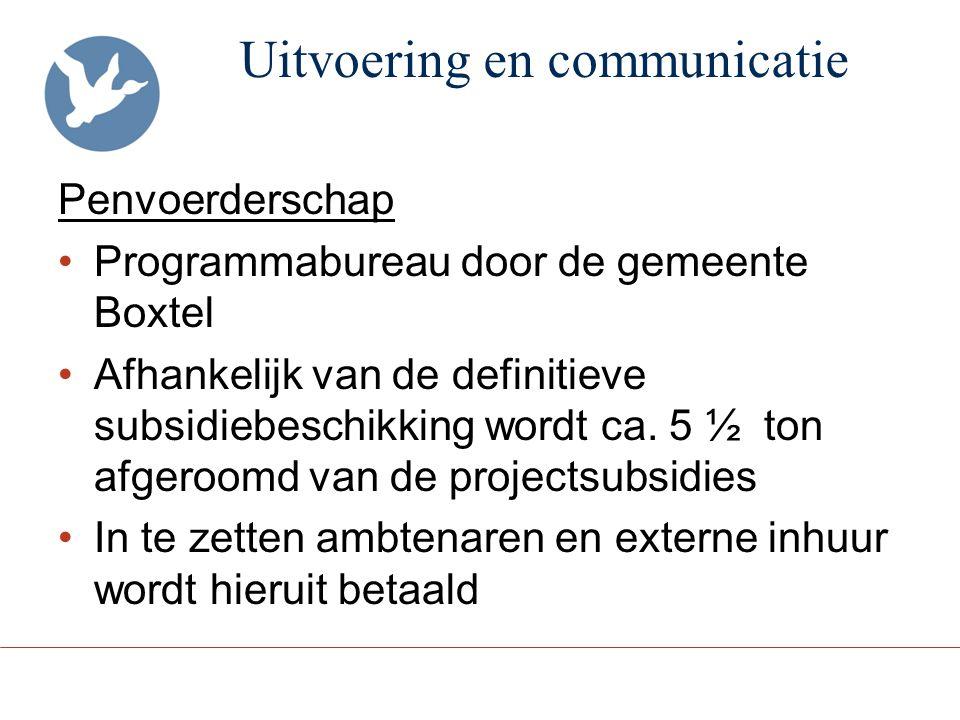 Uitvoering en communicatie
