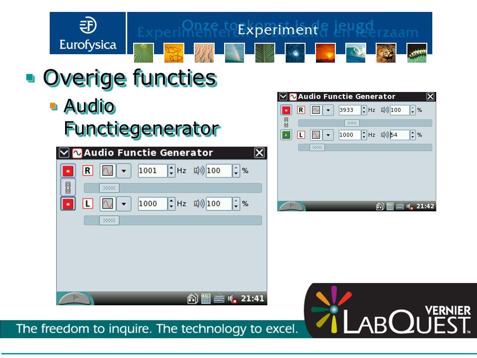 Overige functies Audio Functiegenerator