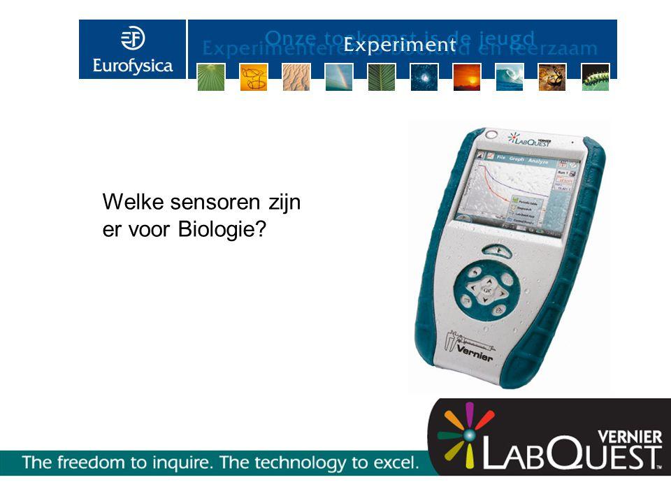 Welke sensoren zijn er voor Biologie