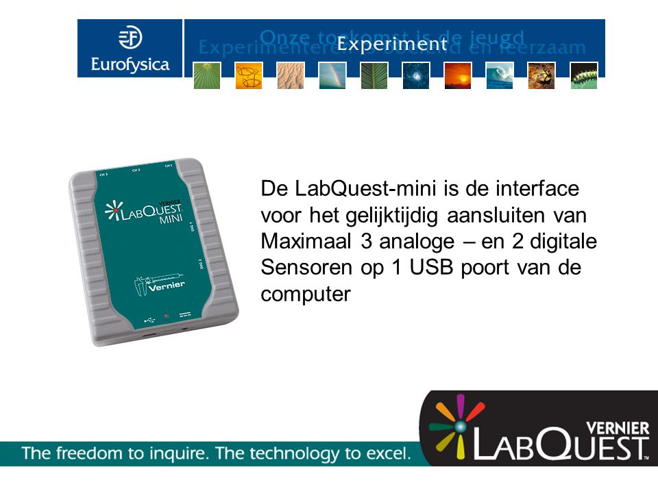 De LabQuest-mini is de interface