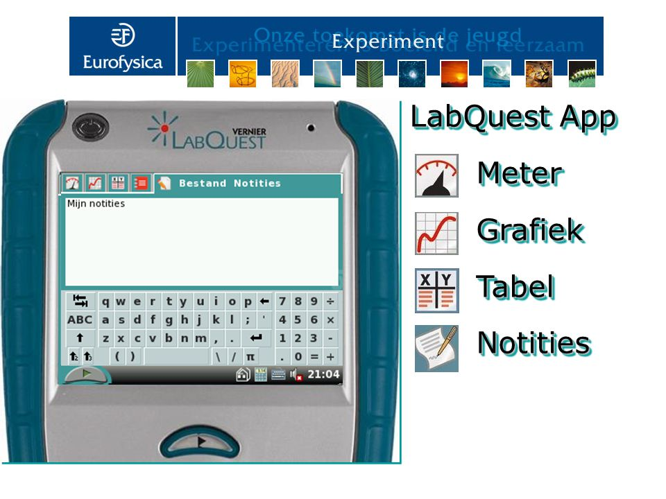 LabQuest App Meter Grafiek Tabel Notities