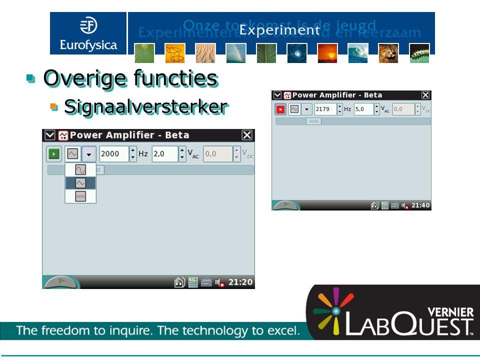 Overige functies Signaalversterker